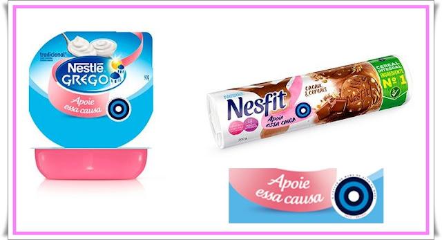 Campanha de prevenção ao câncer de mama,Outubro Rosa,Dicas de saúde,dicas saudável,Nestlé,biscoitos Nesfit,Nestlé grego,alvo azul,auto exame,saúde da mulher