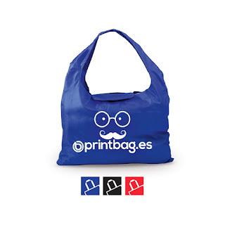 Bolsas baratas plegables impresas azules