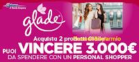 Logo ''Vinci lo shopping con Glade'': 3.600€ da spendere con Personal Shopper