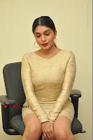 Actress Pooja Roshan Stills in Golden Short Dress at Box Movie Audio Launch  0048.JPG