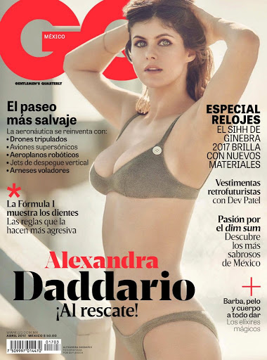 Alexandra Daddario hot model photoshoot for GQ Mexico Magazine April 2017