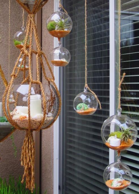 Hanging Beach Garden Terrariums