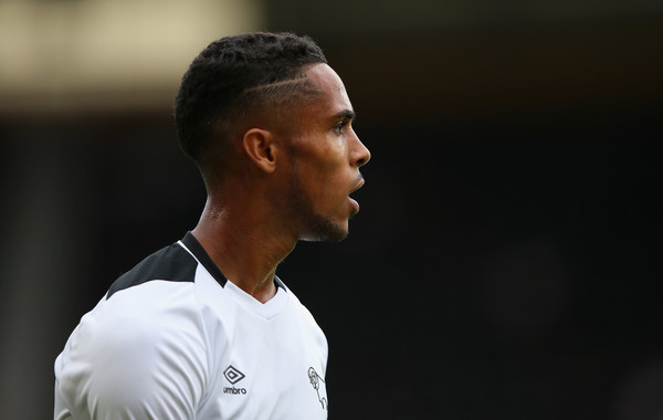 Max Lowe of Derby County looks on during a pre-season friendly match between Derby County and Wolverhampton Wanderers at Pride Park on July 28, 2018 in Derby, England