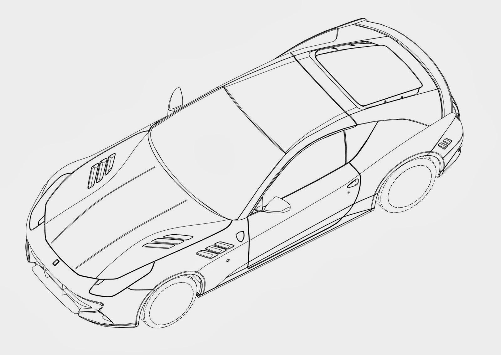 Automotiveblogz Ferrari Ff Coupe Patent Drawings Photos