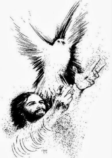 Del Espiritu Dibujos Para Colorear Santo Palomas De