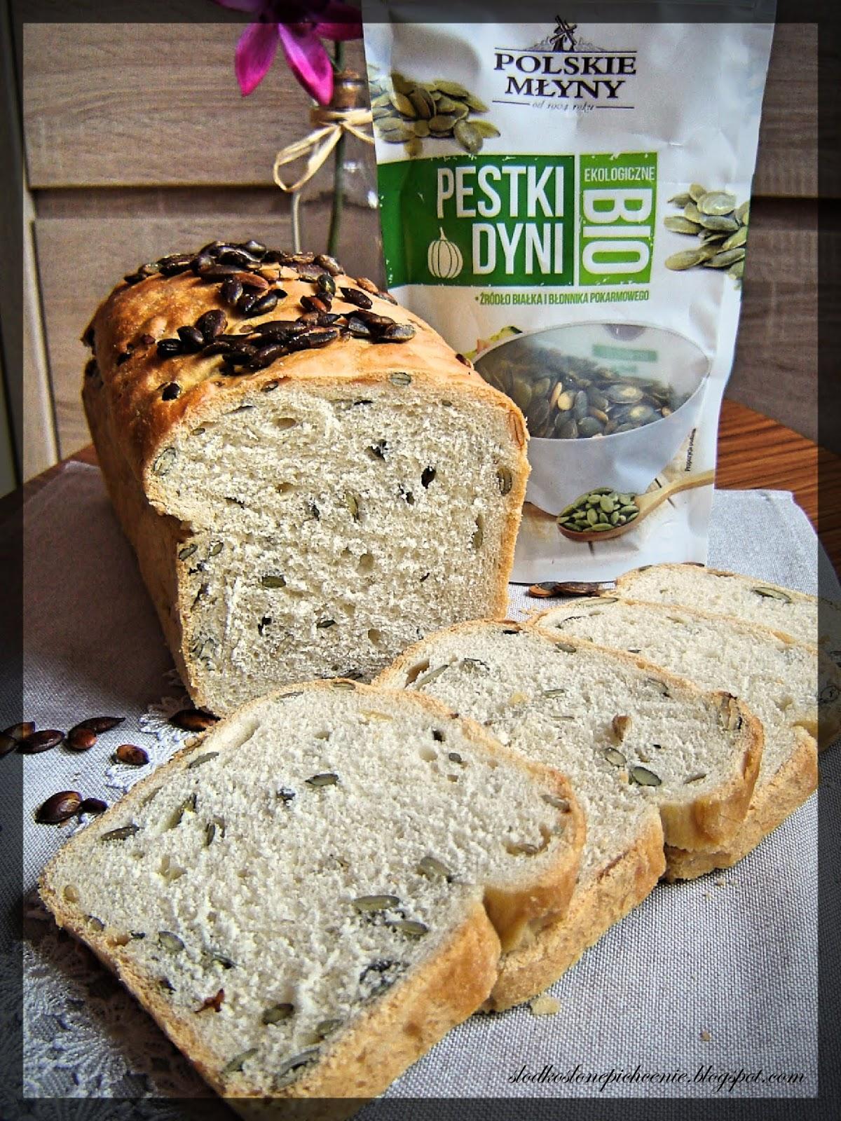 Chleb pszenny z pestkami dyni