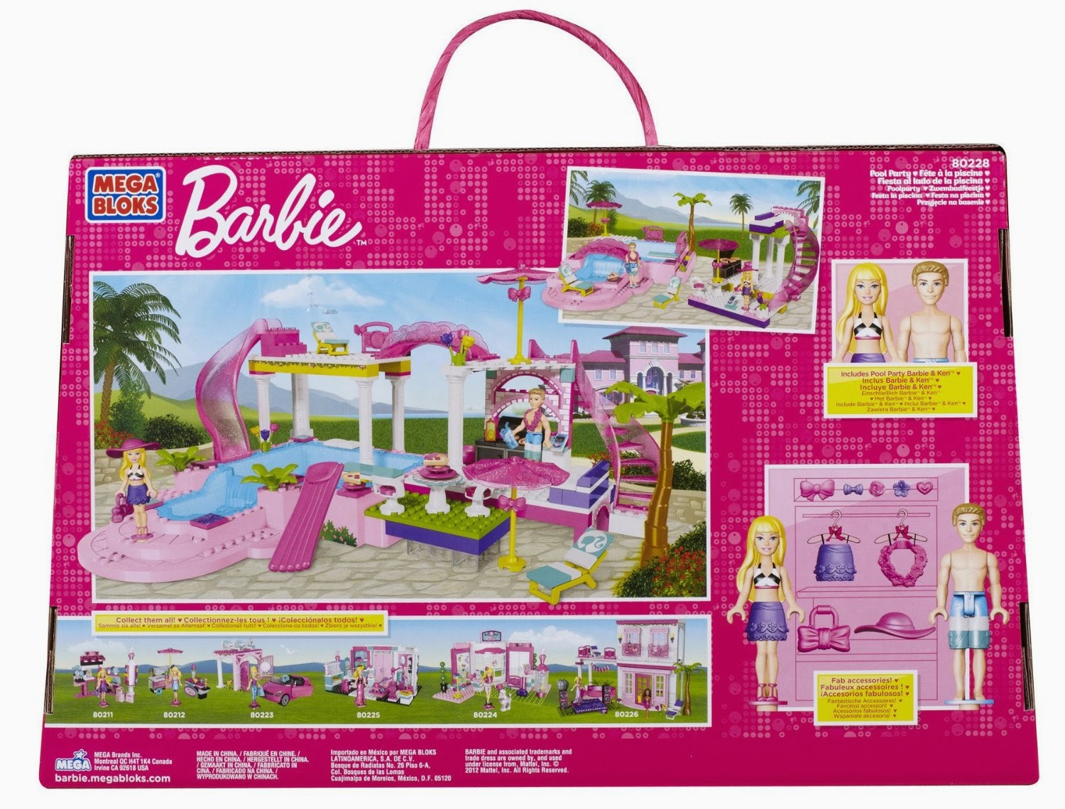 Giochi barbie barbie mega bloks 80228 in offerta limitata for Piscina di barbie