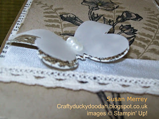 Stampin' Up! Independent Demonstrator Craftyduckydoodah made by Susan Merrey Butterfly Basics Butterfly Thinlets Dies