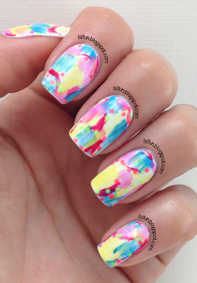 LSL's FUN BLOG: Dry Brush Nail Art Technique - Using Gel ...