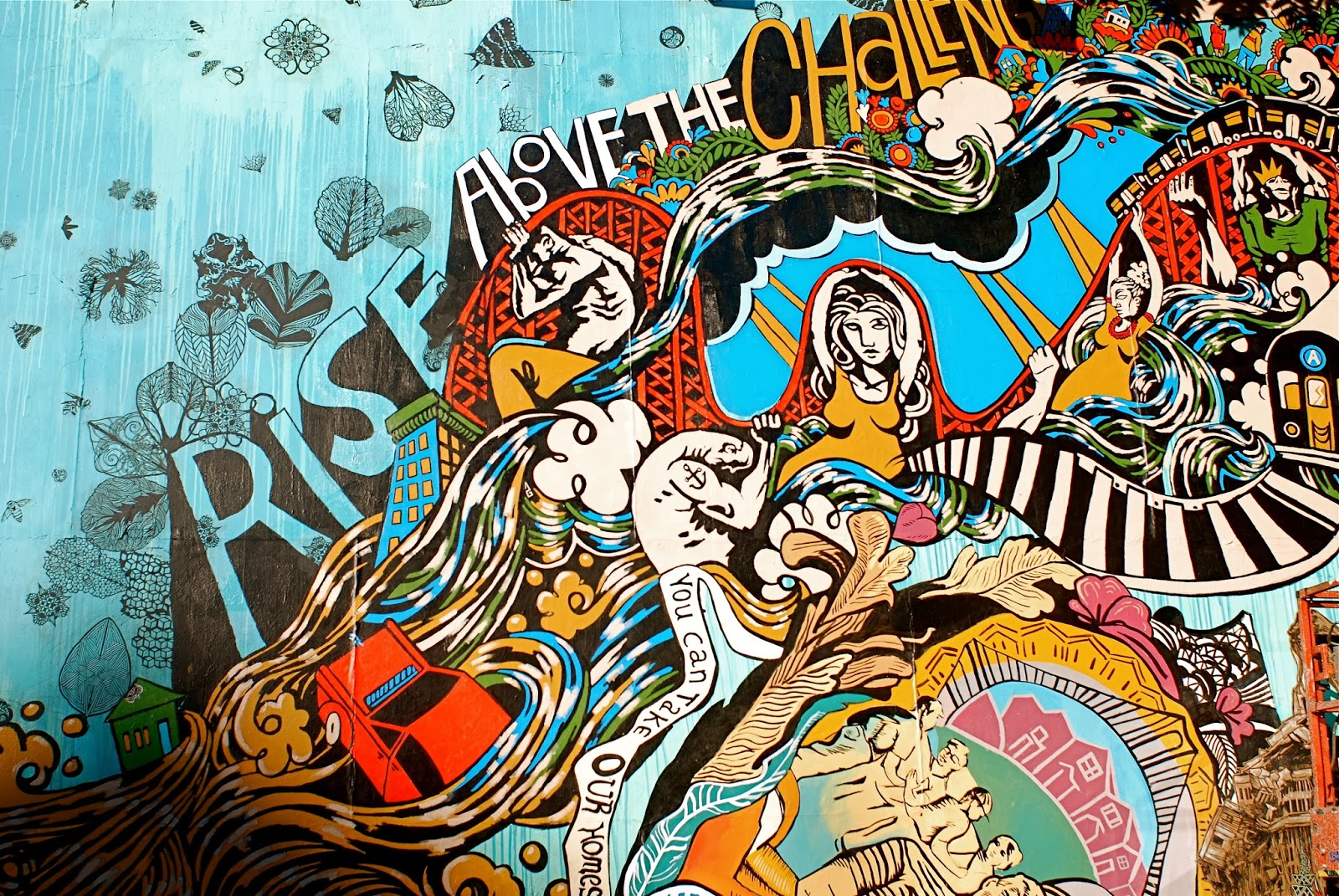 NYC ♥ NYC: Swoon's Hurricane Sandy Mural At The Bowery