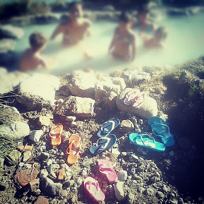 Flip flops Petriolo natural hot springs