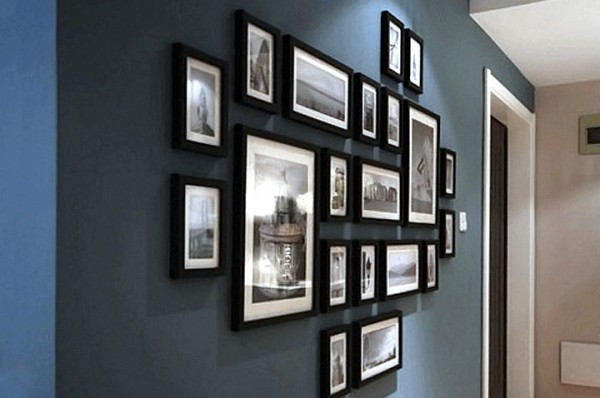 mur de cadres by hippylou on pinterest. Black Bedroom Furniture Sets. Home Design Ideas