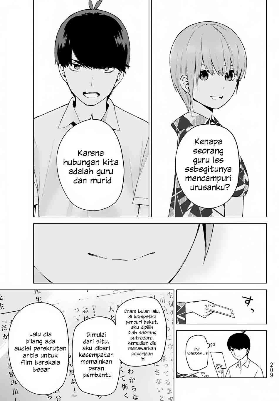 Go-toubun No Hanayome Chapter 11 Bahasa Indonesia