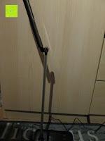 nach oben: CRECO 7W LED Tischlampe 5 Helligkeitsstufen 3 Modi dimmbar 270° drehbar Schreibtischlampe Schwarz [Energieklasse A+]