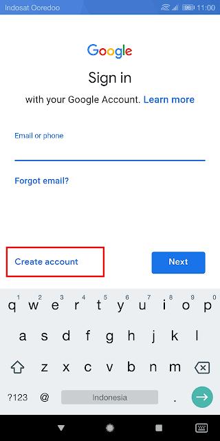 mendaftar gmail baru