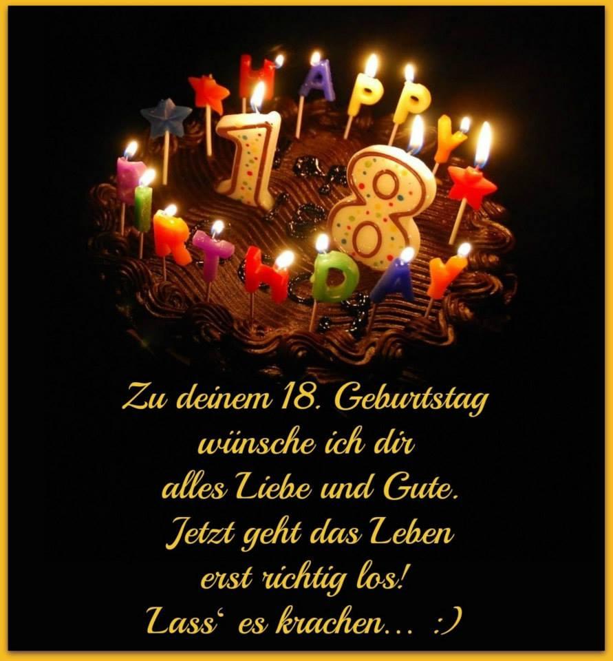 Geburtstagswunsche Geburtstagsspruche Geburtstagsgrusse Zum 18