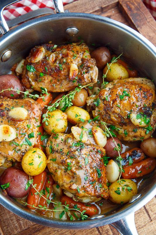Rustic Roasted Garlic Chicken With Asiago Gravy Recipe On