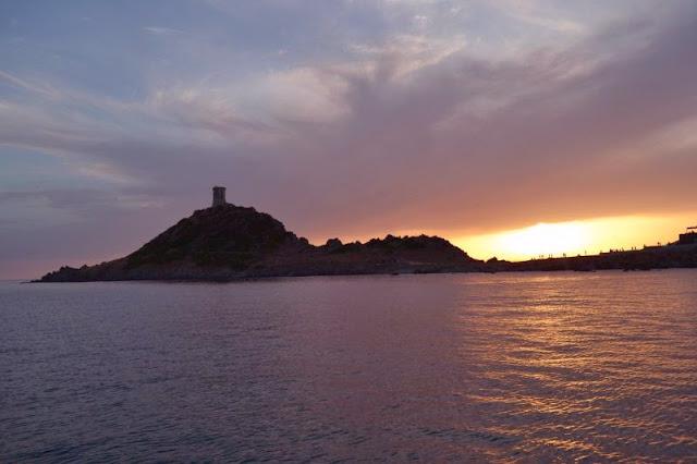 Coucher de soleil sur les îles sanguinaires