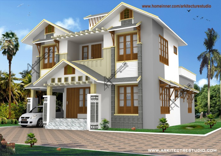 kerala home design style small 3bhk house arkitecture
