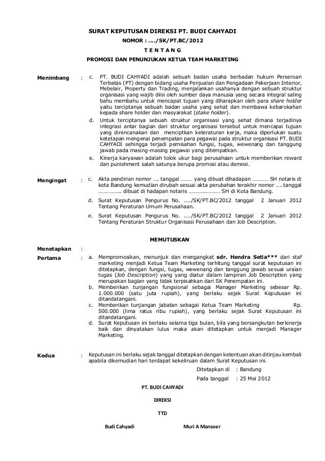 Contoh Surat Keputusan Perusahaan : contoh, surat, keputusan, perusahaan, Contoh, Surat, Karyawan