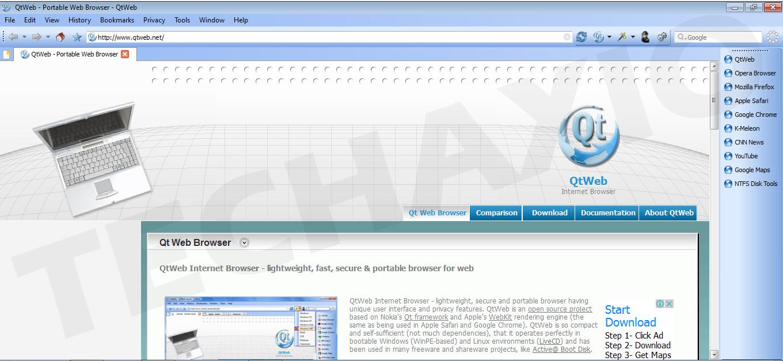 QtWeb Browser Screenshot