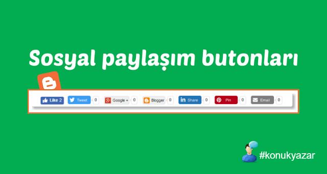 Blogger sosyal paylaşım buton eklentisi
