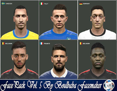 Pes 2016 FacePack Vol. 5 By Boulbaba Facemaker