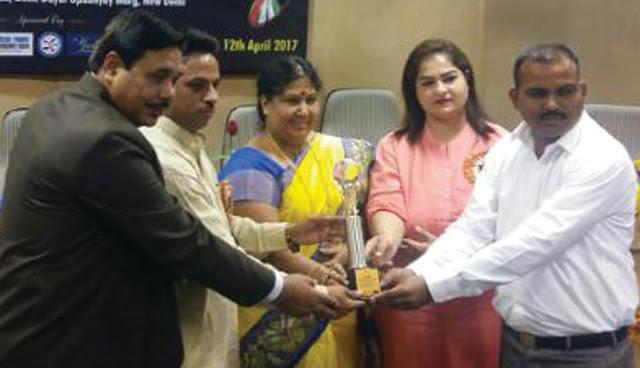 santosh-yadav-awaded-achievement-award-2017-delhi