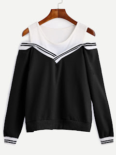http://es.shein.com/Varsity-Striped-Contrast-Open-Shoulder-Sweatshirt-p-306632-cat-1773.html?aff_id=8741