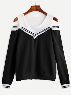 http://es.shein.com/Varsity-Striped-Contrast-Open-Shoulder-Sweatshirt-p-306632-cat-1773.html?aff_id=8741