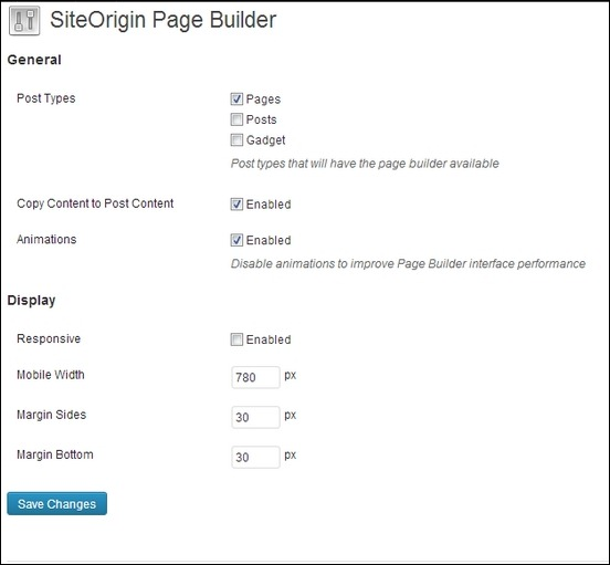 Pagebuilder by SiteOrigin: A Responsive PageBuilder Plugin for WordPress