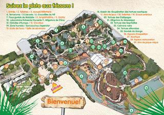 Plano de la Granja de Cocodrilos.
