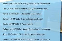 Jadwal SAMSAT Keliling Sleman April 2019