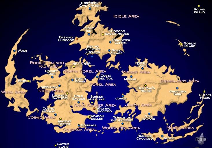 Final Fantasy 9 World Map – Migliori Pagine da Colorare