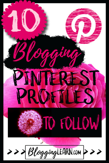 10 Blogging Pinterest Profiles to Follow ♥ Blogging As I Learn It ♥ Best Bloggers on Blogging ♥ Learn How to Blog ♥ Pinterest Profiles To Follow