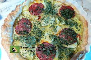 Vie quotidienne de FLaure: Tarte pommes de terre et chorizo