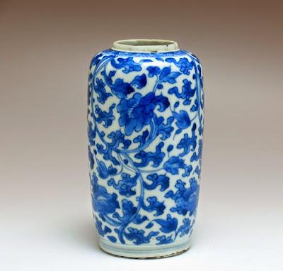 """<img src=""""Rare Kangxi vase .jpg"""" alt=""""blue and white vase with flowers """">"""