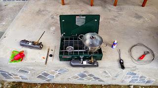 Reparatur des Coleman Dualflame und Dualfuel Kochers unterwegs.