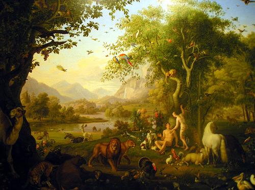 Jard n del ed n el huerto de dios for Adan y eva en el jardin del eden