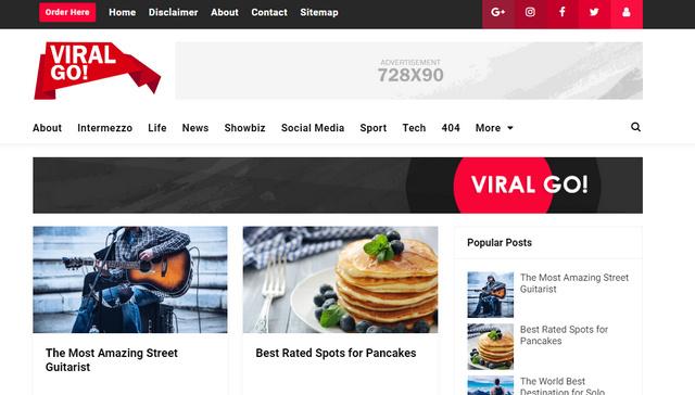 Viral Go Responsive Blogger Templates