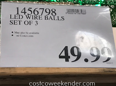 Deal for a set of 3 LED Collapsible Spheres at Costco