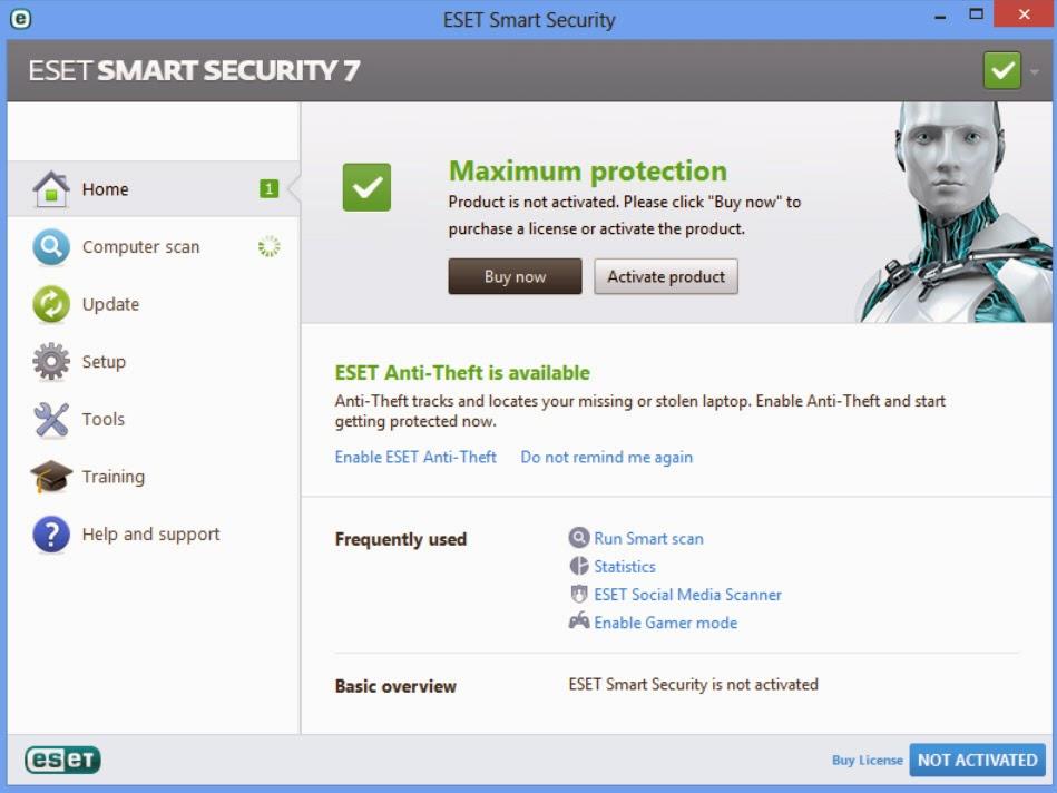 تحميل برنامج الحماية نود32 ايست سمارت سكيورتى - download eset smart security 7.0.317.4