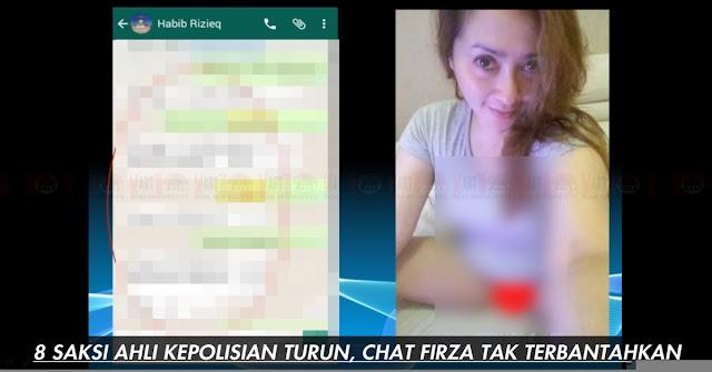 Cat Mesum Firza Husain Dan Rizieq Shihab Dimata 8 Saksi Ahli Kepolisian