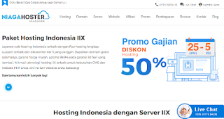 niagahosting.com adalah penyedia paket web hosting murah