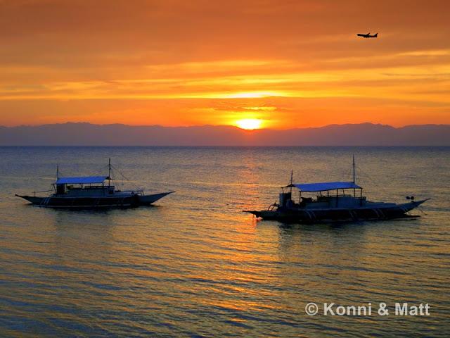 sunset moalboal, cebu, visayas, philippines