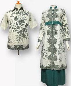 Model Baju Batik Pesta lengan panjang