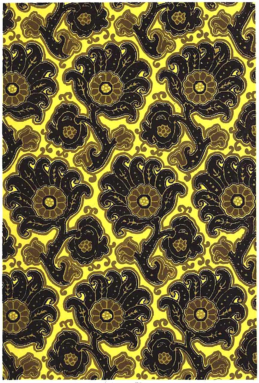 1882 French wallpaper, yellow