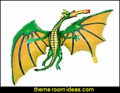 DRAGON SHAPED PARTY BALLOONS  medieval knights party props - castle theme party decorations - Medieval theme party decorating - Castle party props - princess party props - knight and princess costumes - Princess & Knight party ideas - Medieval wall decorating kit - harry potter party supplies - Medieval Birthday Party