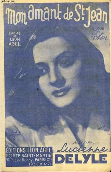 Lucienne Delyle Mon Amant De St Jean : lucienne, delyle, amant, FRENCH, SINGERS:, Lucienne, Delyle