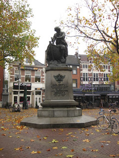 Tsar Peter statue, central square, Zaandam, The Netherlands